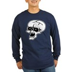 Screaming Skull Long Sleeve Dark T-Shirt