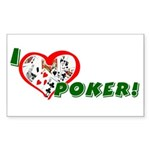 Poker Rectangle Sticker