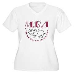 MBA Bacon Pig Women's Plus Size V-Neck T-Shirt