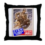 Out of the Way! Throw Pillow