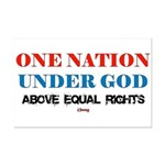 One Nation Above Equal Rights Mini Poster Print