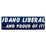 Blue Proud Idaho Liberal Bumper Sticker