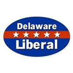Delaware Liberal Oval Car Sticker
