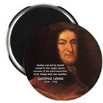 "Gottfried Leibniz Metaphysics 2.25"" Magnet (10 pac"