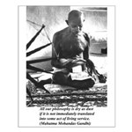 Gandhi Truth Philosophy Small Poster