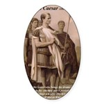Julius Caesar Pictures Quotes Oval Sticker