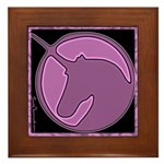 Purple Unicorn Framed Tile