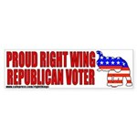 Right Wing Republican Bumper Sticker