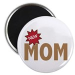 "New Mom Mother First Time 2.25"" Magnet (100 pack)"