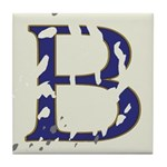 Distressed Blue Letter B Tiles