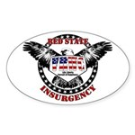 VRWC Red State Oval Sticker