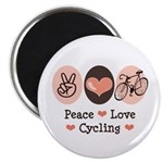 Bicycle Peace Love Cycling Magnet