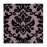Purple Velvet Damask Tile Coaster