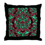 Psychedelic Damask Throw Pillow