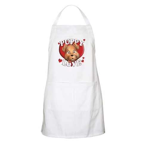 cute puppies pictures to color. Cute Puppy Love BBQ Apron
