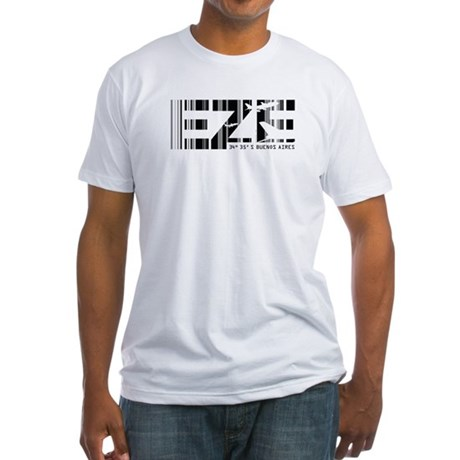 Buenos Aires EZE Argentina Airport Fitted T-Shirt