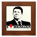 I Heart Reagan Framed Tile