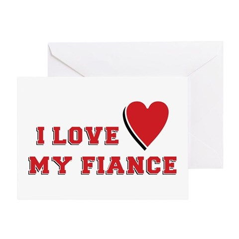 Cards For Fiance. I Love My Fiance Greeting Card