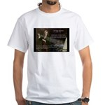 Sir Isaac Newton: Gravity White T-Shirt