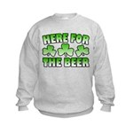 Here for the Beer Shamrock Kids Sweatshirt