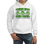 Here for the Beer Shamrock Hooded Sweatshirt