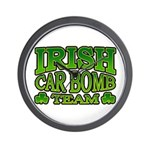 Irish Car Bomb Team Shamrock Wall Clock