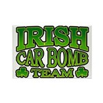 Irish Car Bomb Team Shamrock Rectangle Magnet