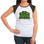 Kiss Me I'm Single Shamrock Women's Cap Sleeve T-S