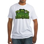 Kiss Me I'm Single Shamrock Fitted T-Shirt