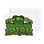 Kiss Me I'm Irish Shamrock Greeting Card