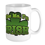 Kiss Me I'm Irish Shamrock Large Mug
