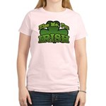 Kiss Me I'm Irish Shamrock Women's Light T-Shirt