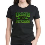 Distressed Drink Up Bitches Shamrock Women's Dark