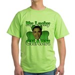 Obama My Lucky Charm Green T-Shirt