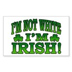 I'm Not White I'm Irish Rectangle Sticker