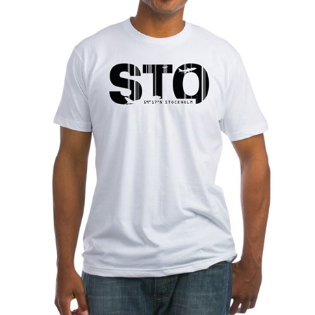 Stockholm Sweden STO Air Wear Fitted T-Shirt