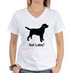 Got Labs? Women's V-Neck T-Shirt
