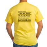 Lost Found Student Nurse Yellow T-Shirt