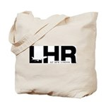London Airport LHR England Black Des. Tote Bag
