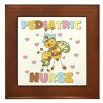 Bee Pediatric Nurse Framed Tile