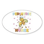 Bee Pediatric Nurse Oval Sticker (10 pk)