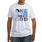 """One Nation Under God"" Fitted T-Shirt"