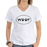 Woof Paws Women's V-Neck T-Shirt