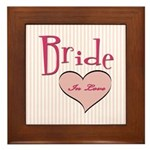 Bride in Love Framed Tile