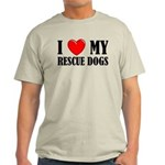 Love My Rescue Dogs Light T-Shirt