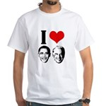I Heart Obama Biden White T-Shirt