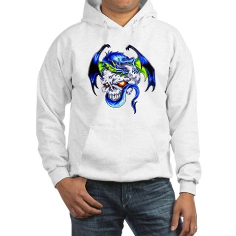 Dragon Skull Motorcycle Tattoo Hooded Sweatshirt