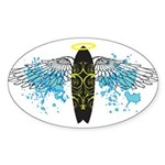 """Surf Angel: Tribe"" Oval Sticker (10 pk)"