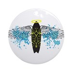 """Surf Angel: Tribe"" Ornament (Round)"