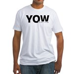 Ottawa Airport Code Canada YOW Fitted T-Shirt